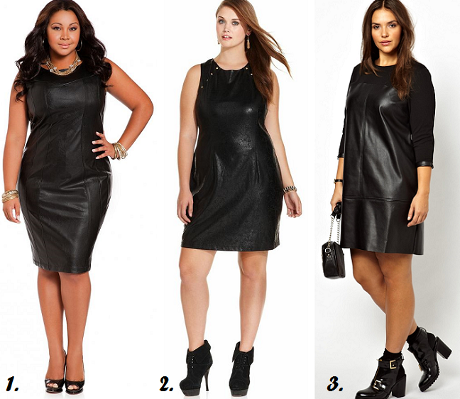 10b6253081 Plus Size Leather Dresses for Curvy Girls - Shapely Chic Sheri ...