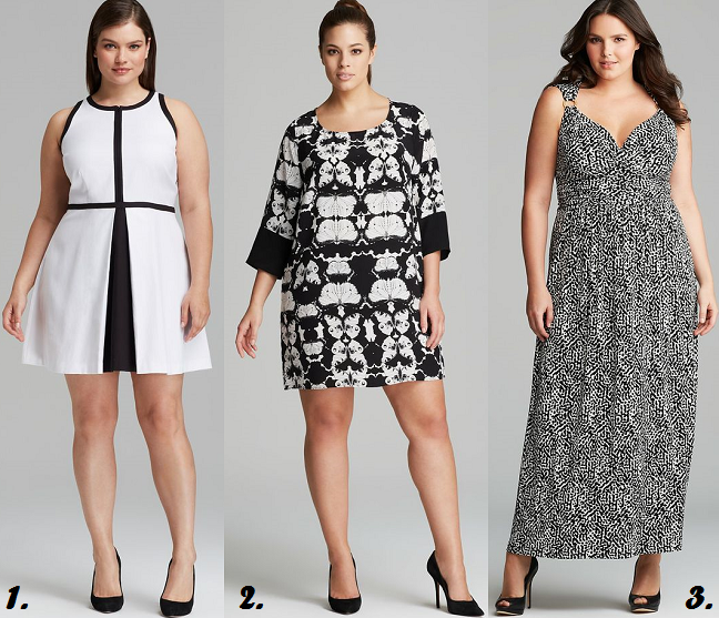Plus Size Black And White Dresses From Bloomingdales Shapely Chic