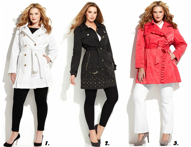 Plus size women's spring outerwear