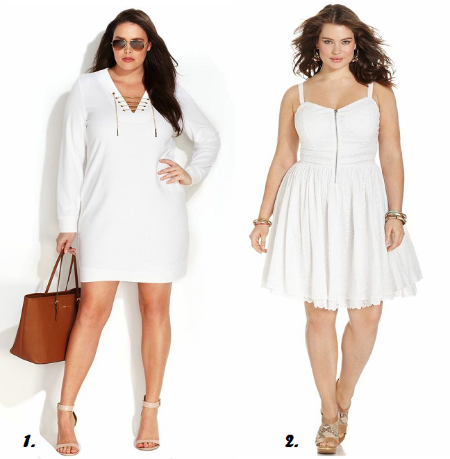 Plus Size White Dresses Curvy Fashion Blog Shapely Chic Sheri