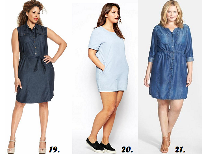 77c36e020af plus-size-denim-chambray-dress-curvy-fashion - Shapely Chic Sheri ...