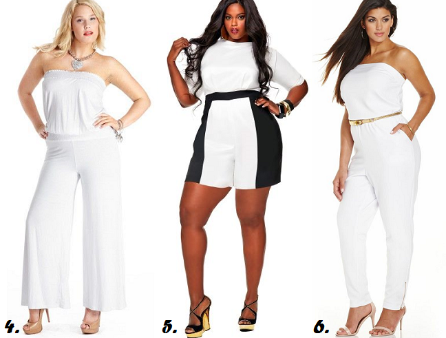 Plus Size White Rompers 2014 For Curvy Women Shapely Chic Sheri
