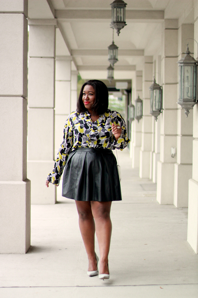 plus-size-faux-leather-skater-skirt-outfit-ideas-curvy ...