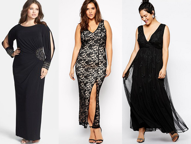 Plus Size Formal Holiday Dresses Black Lace Curvy Fashion Blog
