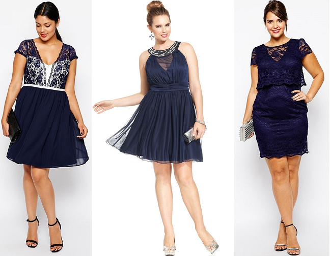 Plus Size Navy Blue Lace Dresses Holiday Curvy Fashion Blog