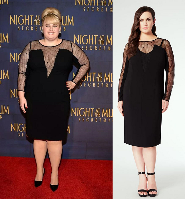 plus-size-actress-rebel-wilson-sheer-panel-plunging-neckline ...