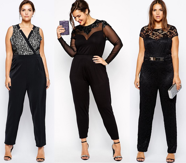 Plus Size Black Lace Sheer Jumpsuits Holidays Curvy Fashion Blog