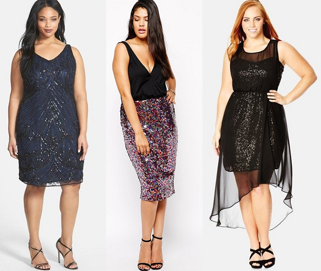 plus-size-black-multi-colored-sequin-dresses-new-years-eve ...
