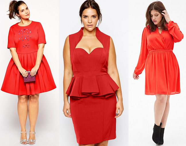 Plus Size Little Red Dresses 2015 Valentines Day Curvy Fashion Blog