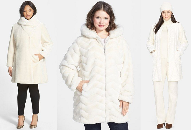 Currently Craving: Plus Size Winter White Coats