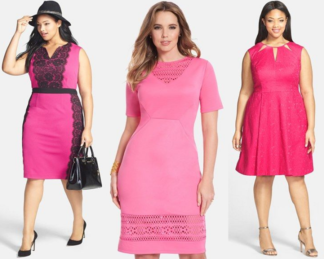 Plus Size Pink Valentines Day Dresses Curvy Fashion Blog Shapely