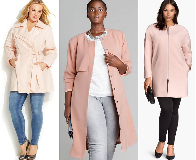 Currently Craving: Plus Size Blush Pink Coats - Shapely Chic Sheri ...
