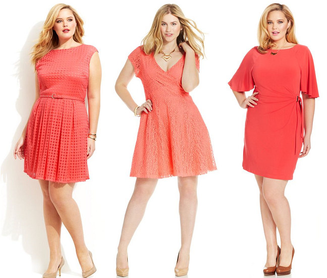 Plus Size Spring Dresses Coral Poppy Orange Curvy Fashion Blog
