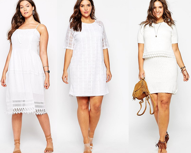 Plus Size How To Wear All White Dresses Spring Summer 2015 Curvy