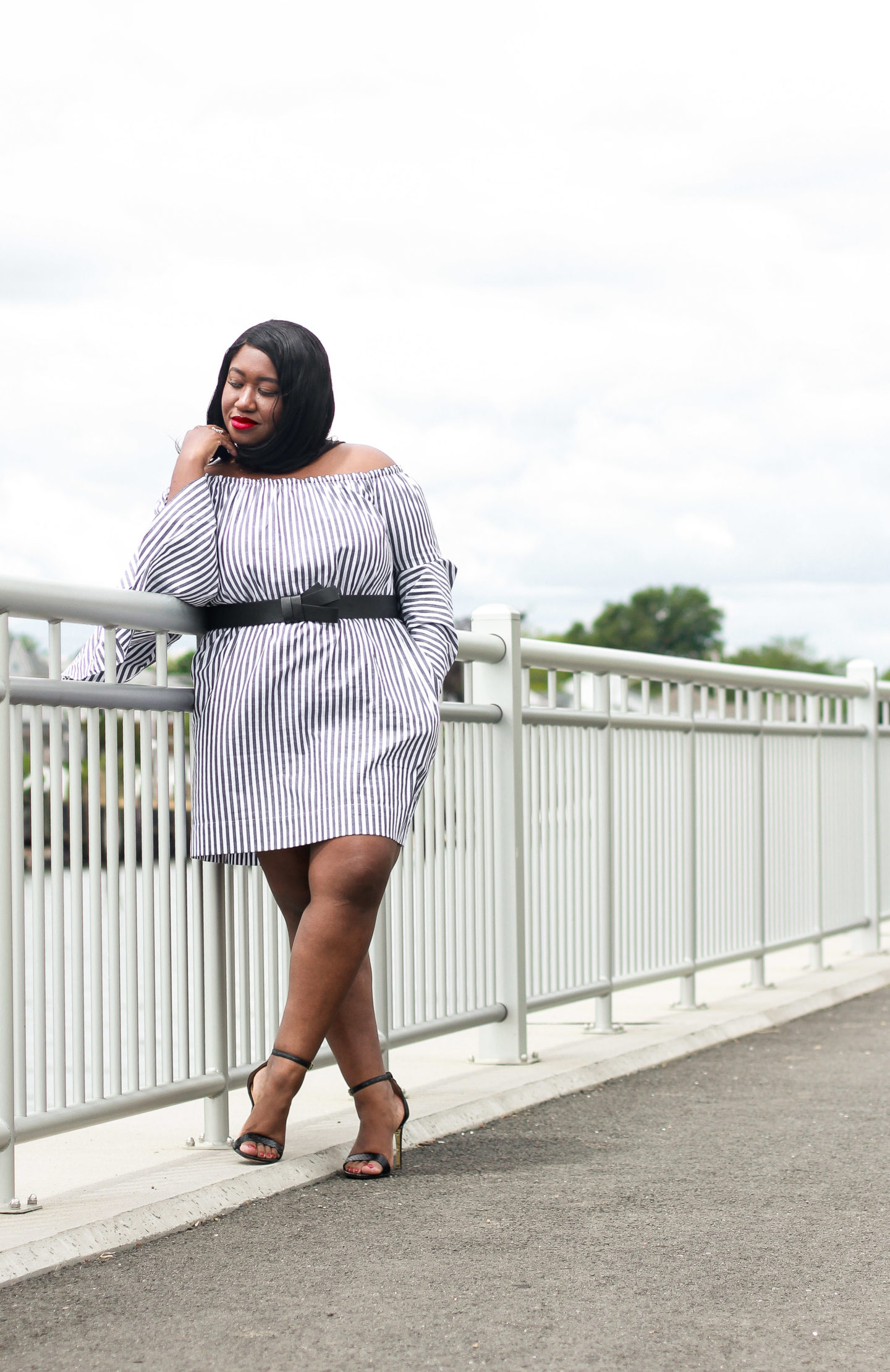 Plus size bell sleeve dress for summer