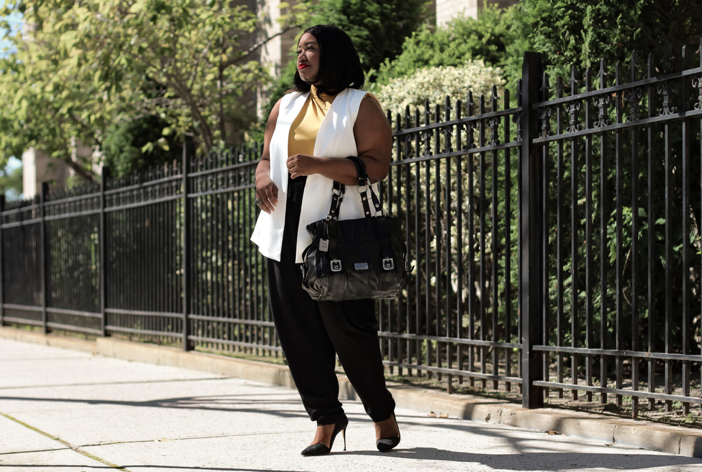 plus size fall work outfit idea