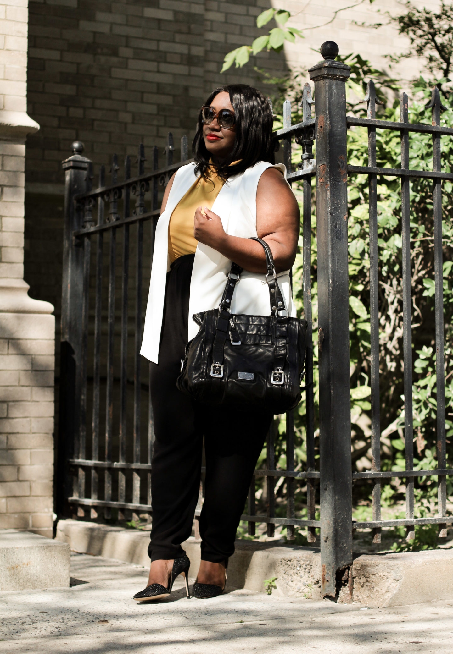 transitional fall office outfit idea