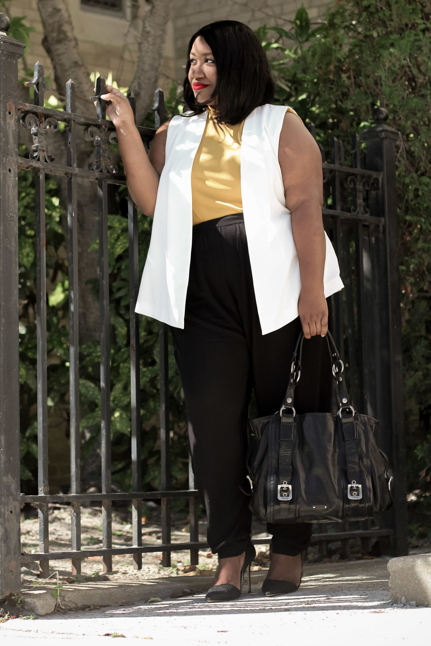 transitional fall work office outfit idea