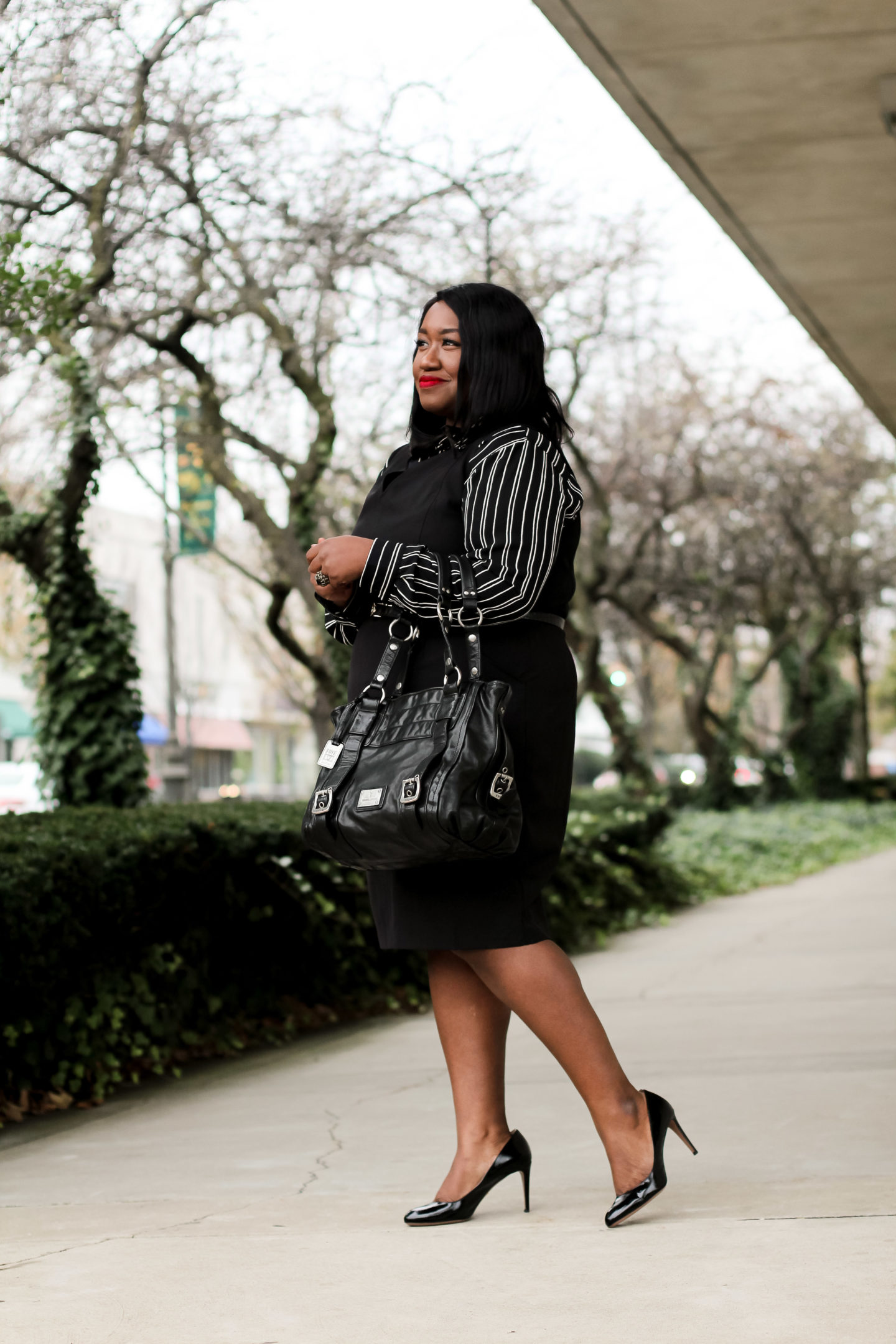 Plus Size Fashion for Women • Plus Size Red Coat + Work Outfit Idea • Plus-Size Workwear for Fall/Winter | Shapely Chic Sheri