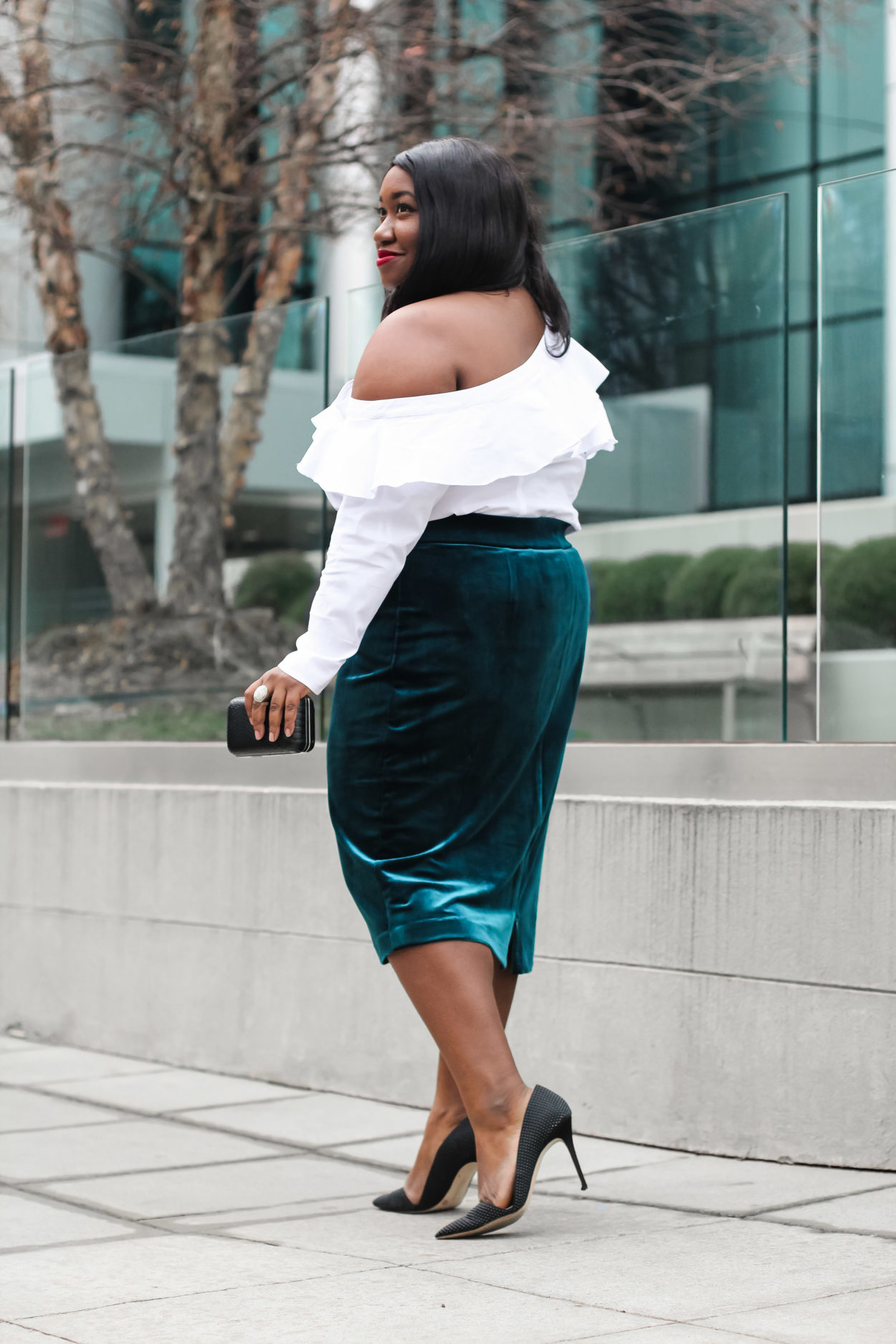How To Wear Velvet Skirt Outfit Plus Size Fashion Blog Shapely Chic Sheri Plus Size Fashion Blog For Curvy Women