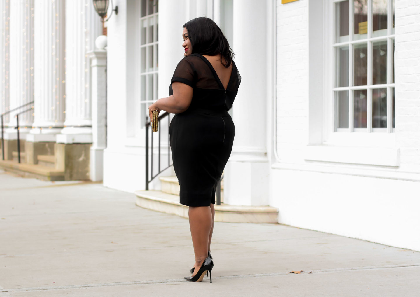 Plus Size Little Black Dress For The Holiday Season Shapely Chic Sheri