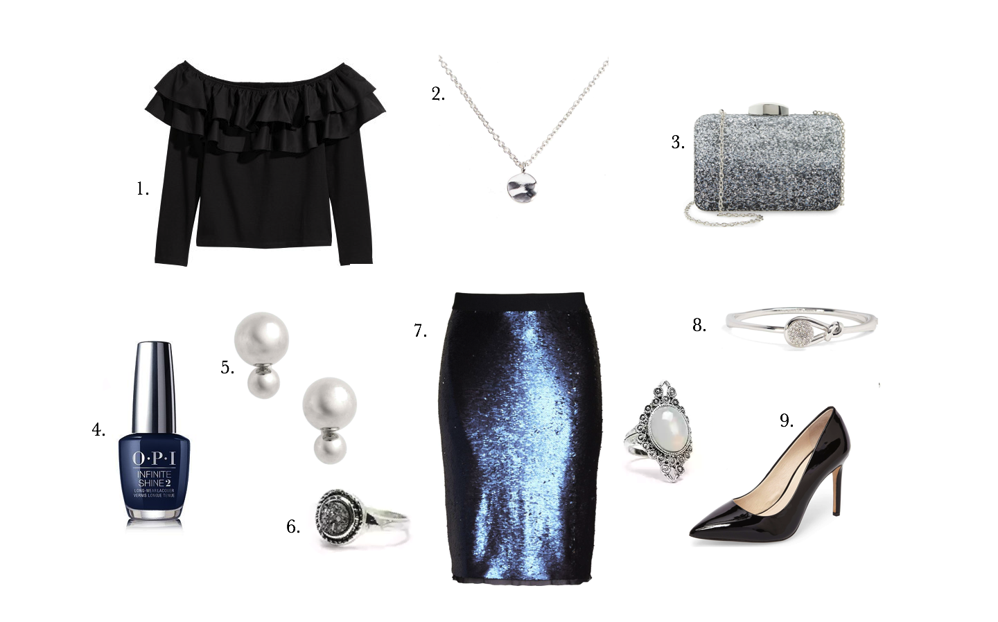 Plus Size Fashion • Plus Size Sequin Skirt Holiday Outfit • Sparkle & Shine • Shapely Chic Sheri