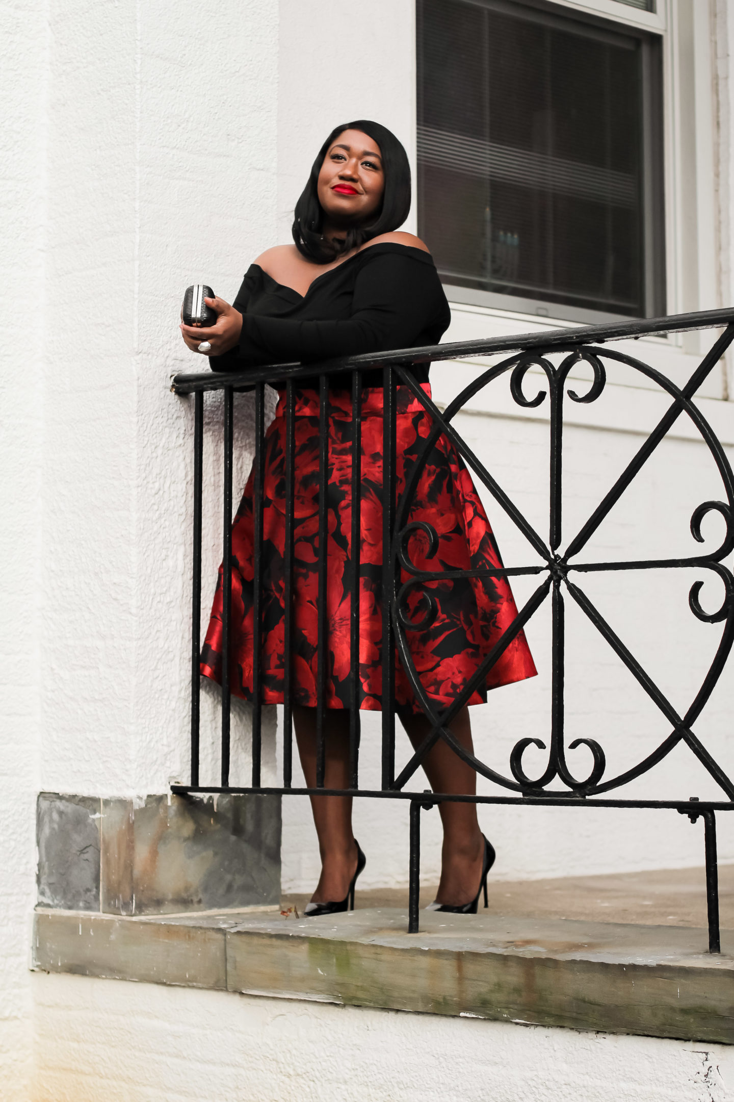 Plus Size Holiday Skirt Outfit Idea Shapely Chic Sheri
