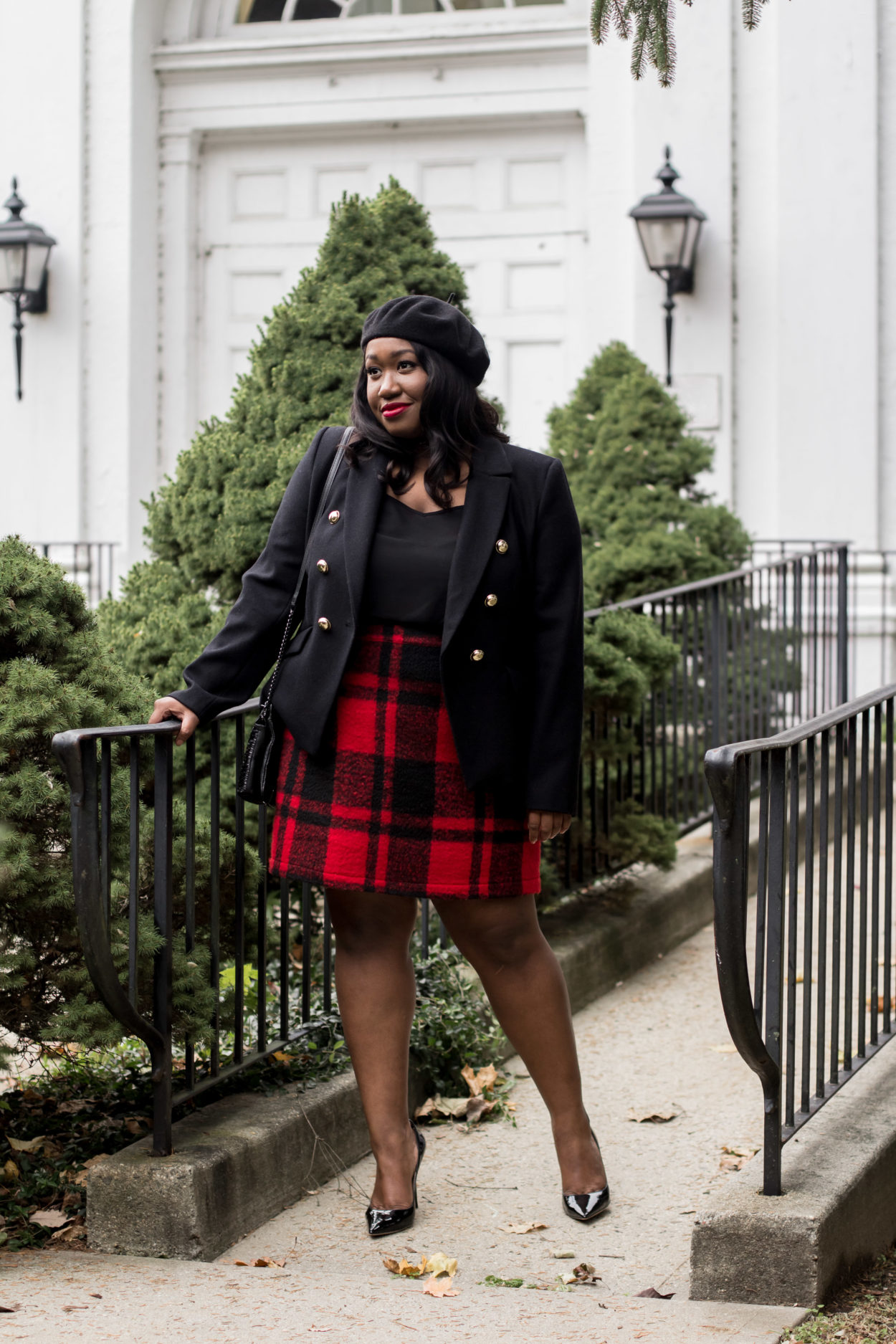 8495c8e5c2 red-plaid-skirt-holiday-outfit-idea-plus-size-fashion-blog - Shapely ...