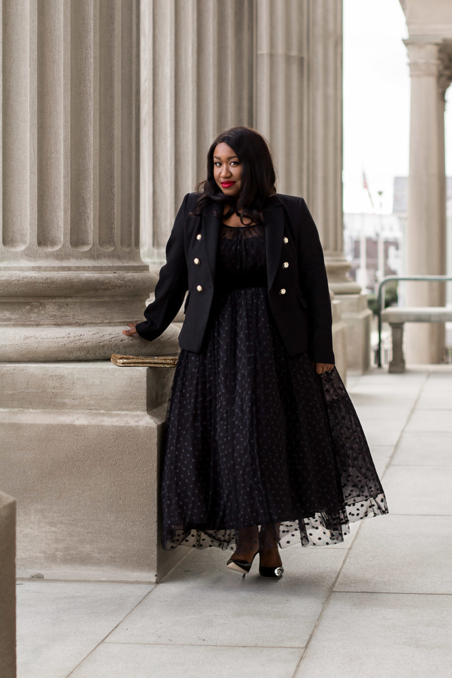 Plus Size Tulle Skirt Outfit Idea For Holidays Shapely