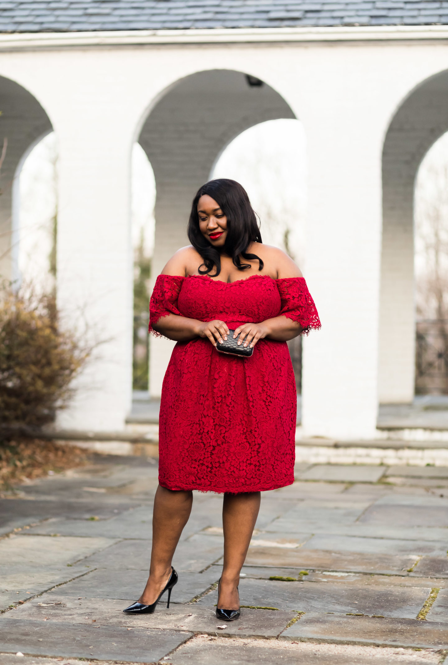 a37d6a200eb Plus Size Red Dress Outfit - Shapely Chic Sheri - Plus Size Fashion ...
