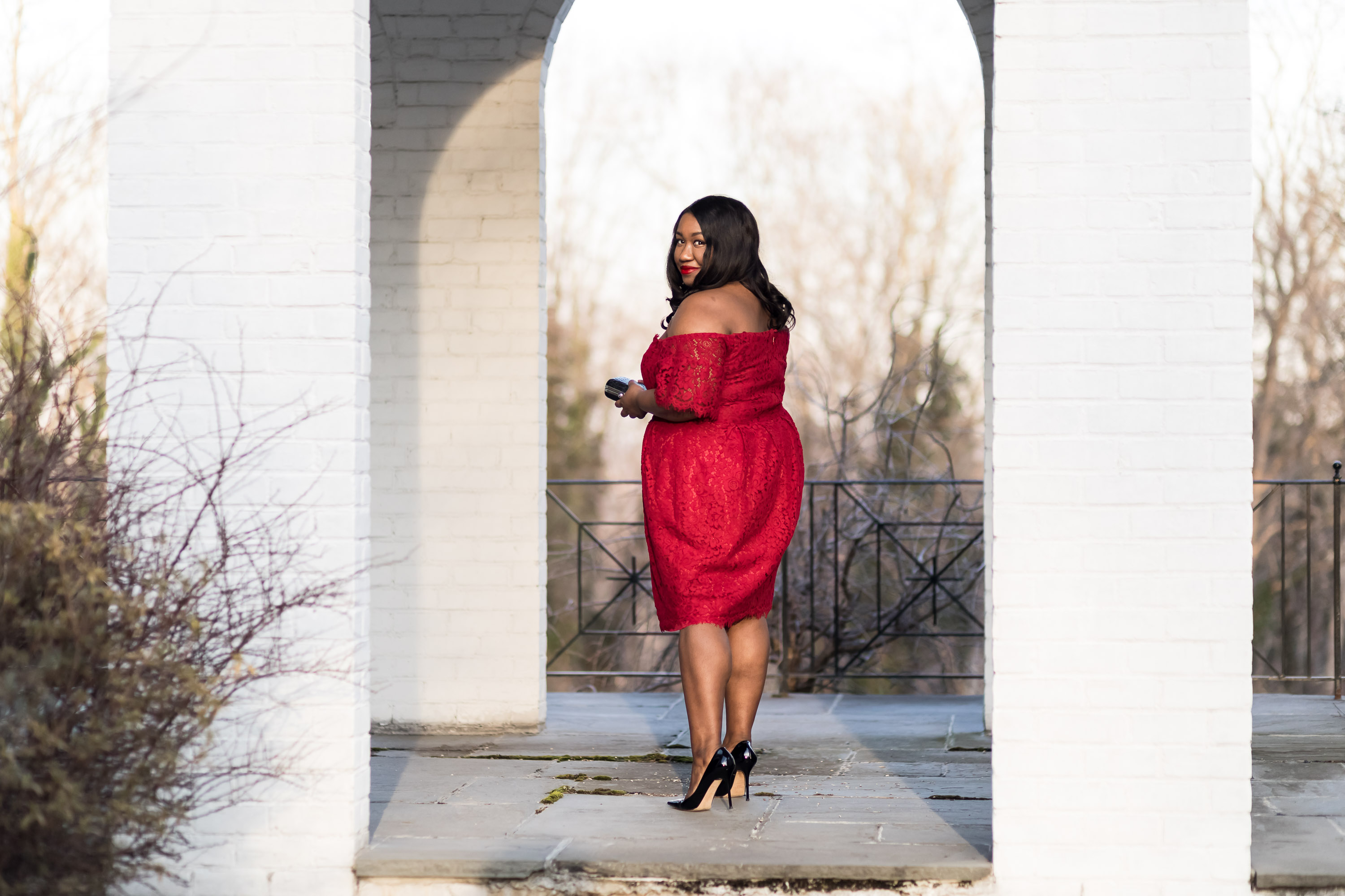 2be09d97309 Plus Size Red Dress Outfit - Shapely Chic Sheri - Plus Size Fashion Blog  for Curvy Women