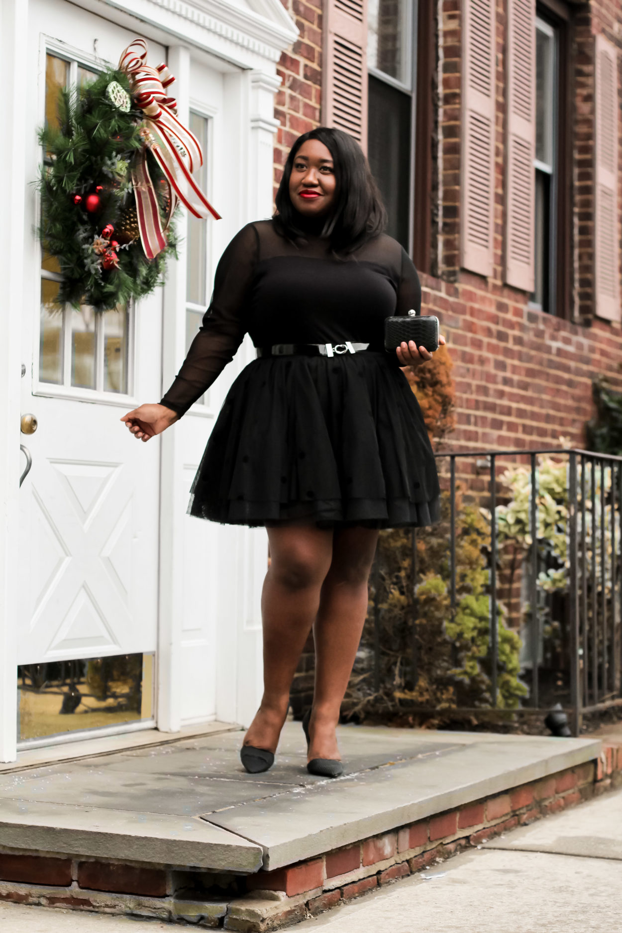 Plus Size Tulle Skirt Holiday Outfit Shapely Chic Sheri